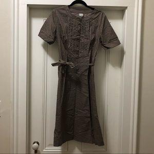 Merona Brown Polka Dot ruffle Dress 10